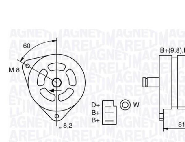 ALTERNADOR 12V FORD  111-MAN102